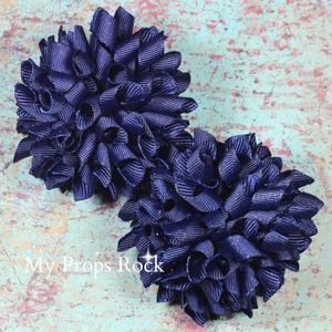 Navy Blue Boutique Korker Hair Bow Set Petite